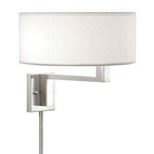 Quadratto Nickel Adjustable Pin-Up Wall Lamp