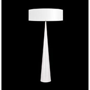 Big Floor Cone Satin White Three-Light Floor Lamp with White Shade