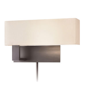 Mitra Black Brass One-Light Wall Plug-In Sconce