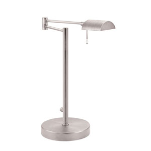 D Lite Satin Nickel One-Light Desk Lamp