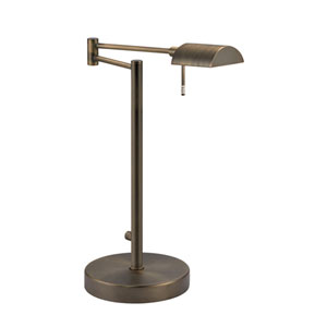 D Lite Europa Bronze One-Light Desk Lamp