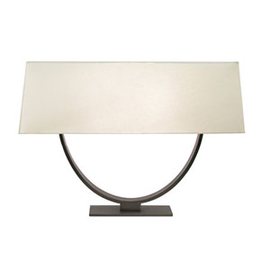 Brava Bronze Forged Iron Two-Light Table Lamp