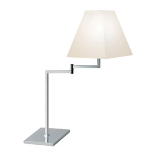 Polished Chrome One-Light Adjustable Desk Lamp