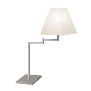 Satin Nickel One-Light Adjustable Desk Lamp