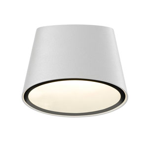 Elips LED Textured White 1-Light Outdoor Wall Sconce
