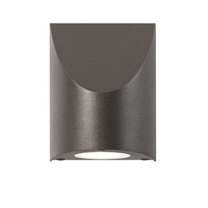 Shear LED Textured Bronze 1-Light Outdoor Wall Sconce 5-Inch