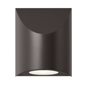 Shear LED Textured Bronze 1-Light Outdoor Wall Sconce 6-Inch