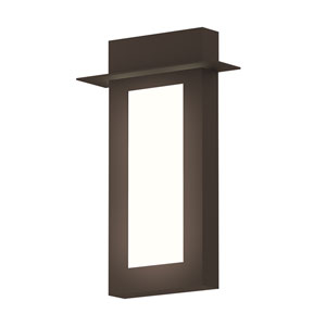 Inside-Out Prairie Textured Bronze 18-Inch LED Wall Sconce with White Optical Acrylic Diffuser