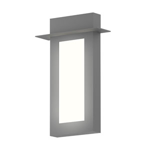 Inside-Out Prairie Textured Gray 18-Inch LED Wall Sconce with White Optical Acrylic Diffuser