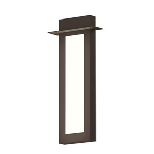 Inside-Out Prairie Textured Bronze 26-Inch LED Wall Sconce with White Optical Acrylic Diffuser