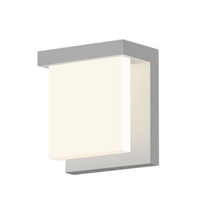 Inside-Out Glass Glow Bright Satin Aluminum LED Wall Wall Sconce with Clear Etched Glass Shade