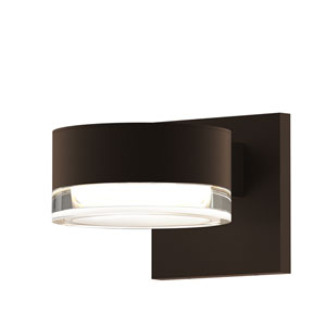 Inside-Out REALS Textured Bronze Downlight LED Wall Sconce with Clear Lens