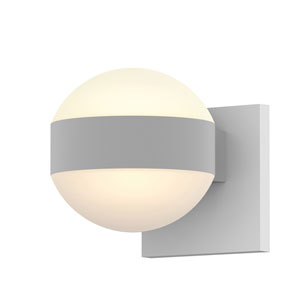 Inside-Out REALS Textured White Up Down LED Wall Sconce with Dome Lens and Dome Cap with Frosted White Lens