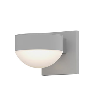 Inside-Out REALS Textured White Up Down LED Wall Sconce with Dome Lens and Plate Cap with Frosted White Lens