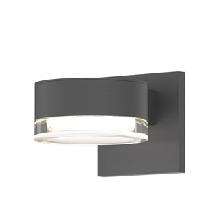 Inside-Out REALS Textured Gray LED Wall Sconce with Clear Lens