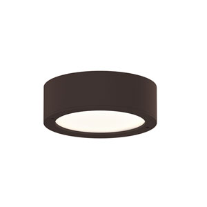 Inside-Out REALS Textured Bronze LED Surface Mount with Frosted White Lens