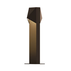 Inside-Out Triform Compact Textured Bronze 16-Inch LED Double Bollard