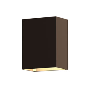 Inside-Out Box Textured Bronze LED Wall Sconce