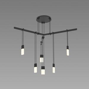 Suspenders LED Satin Black 6-Light Pendant