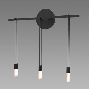 Suspenders LED Satin Black 3-Light Wall Sconce