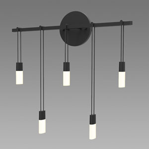 Suspenders LED Satin Black 5-Light Wall Sconce