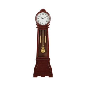 Brown Red Grandfather Clock