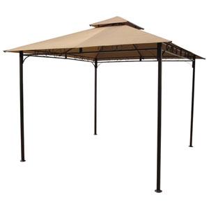 Khaki Square Vented Canopy Gazebo
