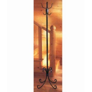 Breckenridge Natural Black Standing Coat Rack