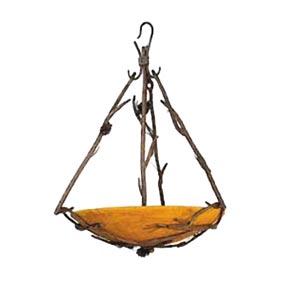 Pine Natural Pine Bark Bowl Pendant