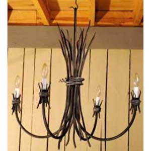 Rush Natural Black Chandelier