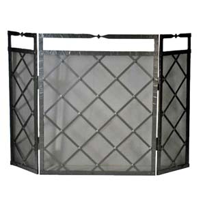 Forest HIll Triple Panel Fireplace Screen