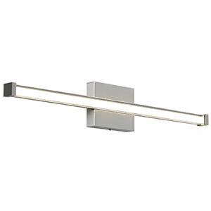 Gia Satin Nickel 24-Inch 600 Lumens LED Bath Bar with Smoke Glass