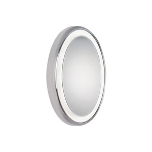 Tigris Satin Nickel Eight-Light Surface Mounted Oval Vanity Mirror