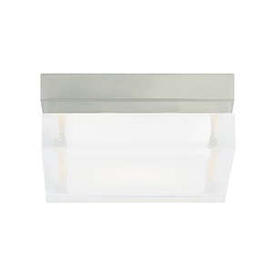 Boxie Satin Nickel 800 Lumen 2700K LED Small Flush Mount