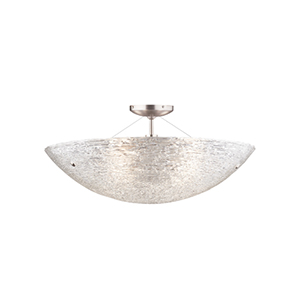Trace Antique Bronze Two-Light Semi-Flush with Crystal Glass