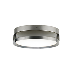 Finch Satin Nickel LED Round Float Flush Mount