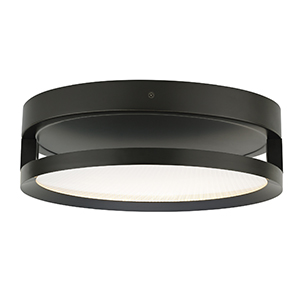 Finch Antique Bronze LED Round Float Flush Mount