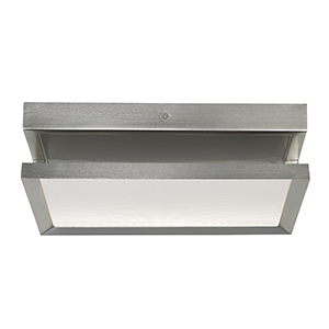 Finch Satin Nickel LED Square Float Flush Mount