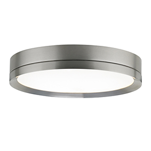 Finch Satin Nickel LED Round Flush Mount