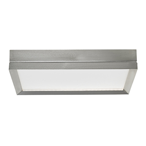 Finch Satin Nickel LED Square Flush Mount