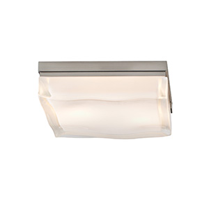 Fluid Satin Nickel Two-Light Large Square Flush Mount