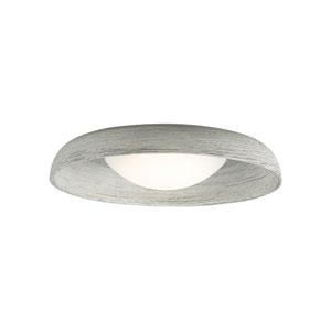Karam Gray One-Light 3000K LED Flushmount with Concrete Shade and Gray Stem