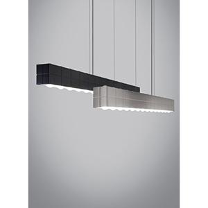 Biza Satin Nickel LED Linear Suspension Pendant