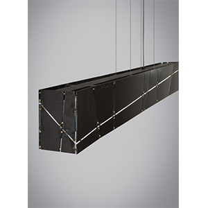 Crossroads Steel Four-Light Halogen Linear Suspension Pendant