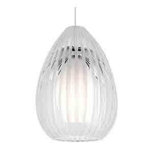 Ava Chrome One-Light Halogen Mini Pendant with Clear Glass