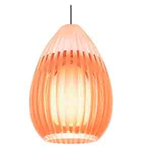 Ava Chrome One-Light Halogen Mini Pendant with Orange Glass