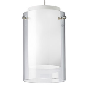 Echo Chrome One-Light Mini Pendant with Clear Shade and Chrome Stem