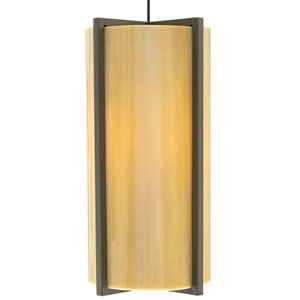 Essex Antique Bronze One-Light LED Mini Pendant with Sand Shade and Antique Bronze Stem