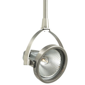 John Satin Nickel Six-Inch One-Light Low-Voltage Head Monopoint