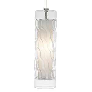 Liza Satin Nickel One-Light Mini Pendant with Clear Shade and Satin Nickel Stem